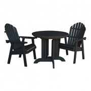 Patio 3 Piece Round Dining Set